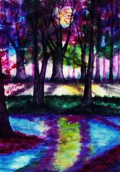 The Sound of Silence (watercolor) by AlexandraDart