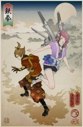 Tekken Ukiyo-e: Lars and Alisa by behindinfinity