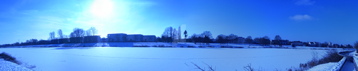 Werdersee Panorama Winter 2016 by MJMoonbow