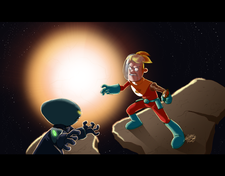 Space Face Off by Wolf-Shadow77