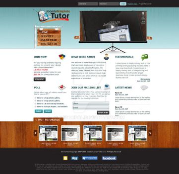 Joomla Template Tutor by princepal