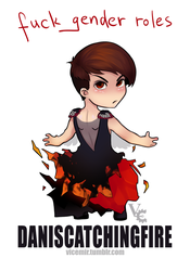 Dan is catching fire by VicemirAlex