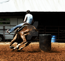 Barrel Racing by aqhakt
