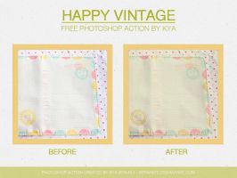 Photoshop Action #4: Happy Vintage by apparate