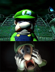 Luigi's Scared of his own Death by EarWaxKid