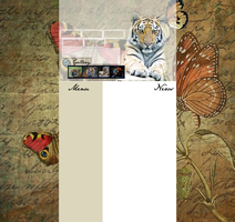 Layout with tiger for your web by Hrasulee