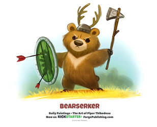 Daily 1327. Bearserker by Cryptid-Creations