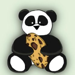 Panda and Cookie by pen-it-black