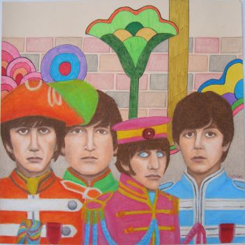 Beatles on the Wall For Sale by thehurricanes