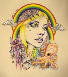 Girl With Kaleidoscope Eyes Scan by BlackMagdalena