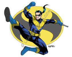 Retro Nightwing, Colored by stratosmacca
