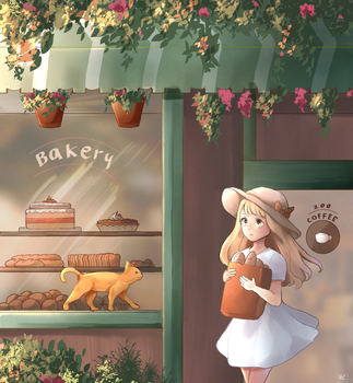 Outside the Bakery by rainycharm