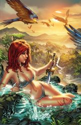 Red Sonja river ebas Nei colors SMALL by ebas