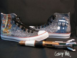 11th Doctor's TARDIS Shoes by caseyhoke