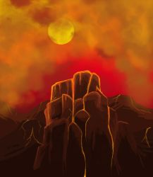 Infernal mountains by Dorimen