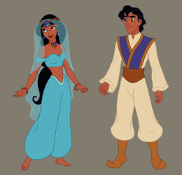 Arabian Nights collab (upcoming dress up game) by AzaleasDolls