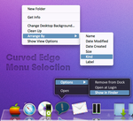 Curved Edge Menu Selection by theBassment