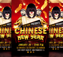 Chinese New Year Flyer Template by ryrdesign