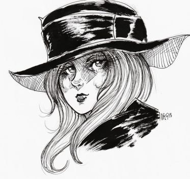 ART01 - Girl With Hat by D-MATSUYAMA