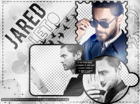 PACK PNG 02# Jared Leto by RippedHisHeart