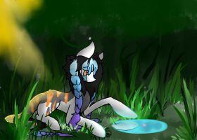 By a Pool {COMMISSION} by DragonMiner101