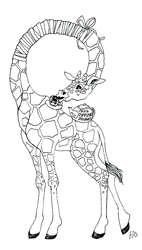 Giraffe with a Sore Throat by racehell