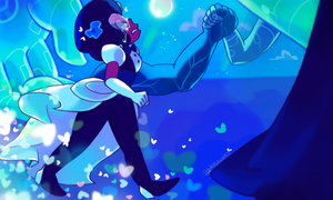 I am the will of two gems that care for each other by Daycolors