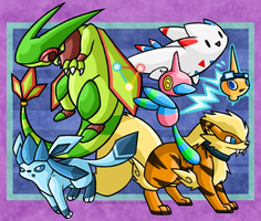 Pokemon Main Team Photo by Zenfyre