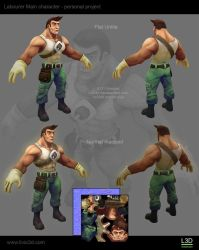 Labourer Main Character Gamemodel by Livius3d