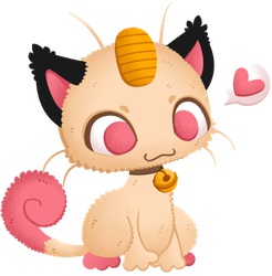 Shiny Meowth by Sprits