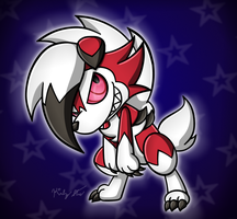 Chibi Lycanroc by drinkyourvegetable