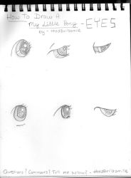 How To Draw A My Little Pony - Eyes by thed3vilssmile
