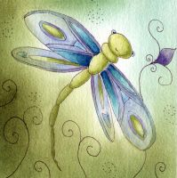 florina watercolor painting dragonfly by dragonflywatercolors