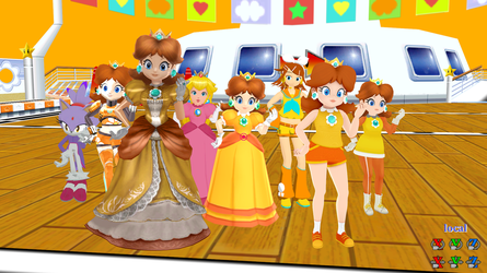 Daisy's Mario Party 6 Pose for MMD by CAHoltz
