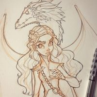 Daenerys Targaryan Sketch by ChrissieZullo