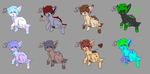 Puppy Adopts [OPEN] [100 POINTS EACH] by ThebestKatoheartpets