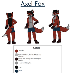 Axel Fox Ref Sheet by Charlie-Breen