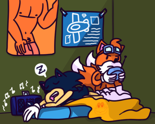 Sleepy Sonic by StarSeedDreamer