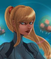 Samus Portrait by gunrir