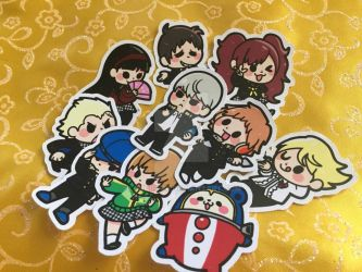 Persona 4 Stickers by LordBoop
