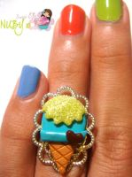 Delicate Ice cream ring by colourful-blossom