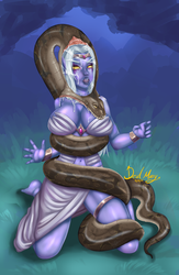 Queen Azshara Troubles by SnakePerils