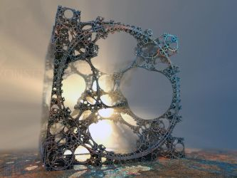 Aztech Cube - the Monument by MANDELWERK