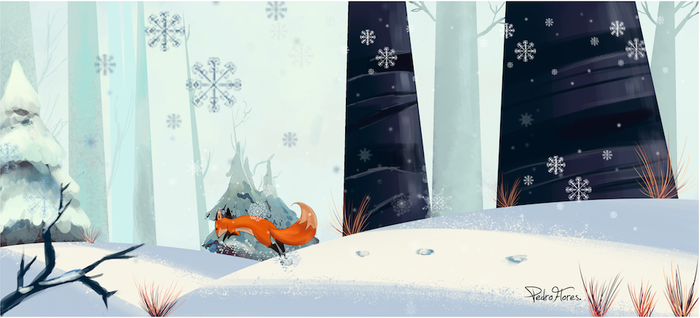 Winter fox by Pedro-Flores