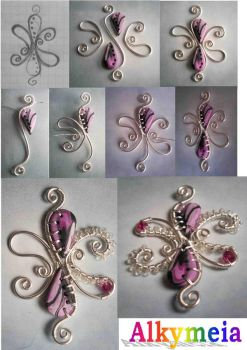 Tutorial WireWork PolymerClay by Alkhymeia