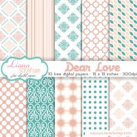 Free digital paper pack Dear Love Set by LianaScrap