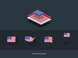 FlatFlags USA by capdevil13