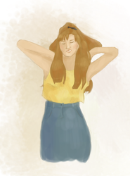 Brown haired girl - sketch by malinnlis