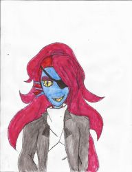 Undyne form undertale by Zeroice1