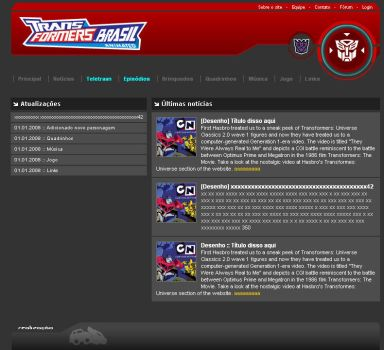 Layout site TF Animated BR 06 by odairjr